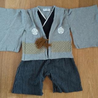 美品 80 袴 ロンパース(和服/着物)