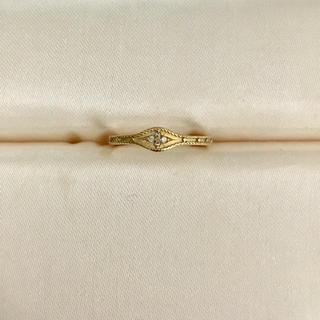 AHKAH - AHKAH アーカー ダイヤモンド ローシャンリング K18YG 0.02ct