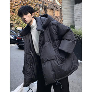 新品 韓国ファッション メンズ オーバーサイズ中綿ダウン(ダウンジャケット)