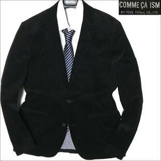 コムサイズム(COMME CA ISM)の10063 新品 コムサイズム コーデュロイ テーラードジャケット ブラック M(テーラードジャケット)
