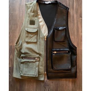 ラフシモンズ(RAF SIMONS)のgosha rubchinskiy 18ss 18aw combo vest(ミリタリージャケット)