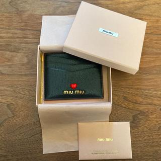miumiu - 【新品】MIUMIU マドラスラブカードケース