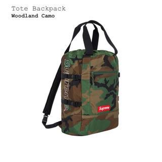Supreme - 新品未開封【Woodland Camo】Tote Backpack