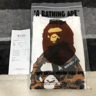 A BATHING APE - bape mcm コラボ Tシャツ