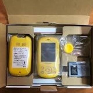 エヌティティドコモ(NTTdocomo)の【新品】ドコモキッズ携帯 F-03J イエロー(黄) SIMフリー(携帯電話本体)
