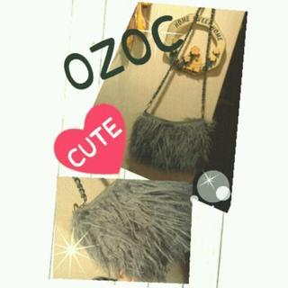 オゾック(OZOC)のOZOC◆モサモサ毛足長チェーンBAG(ショルダーバッグ)