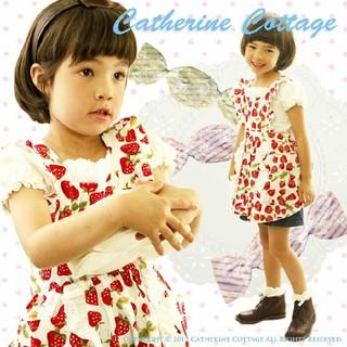 キャサリンコテージ(Catherine Cottage)のCatherine cottage イチゴ柄フリルエプロン(その他)