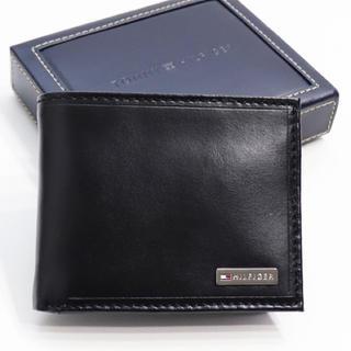 トミーヒルフィガー(TOMMY HILFIGER)の新品 トミー ヒルフィガー 二つ折り 財布 フォーダム コインケース ブラック(折り財布)