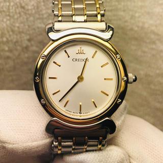 セイコー(SEIKO)の美品 SEIKO CREDOR SS+ 18KT ベゼル  レディース腕時計(腕時計)