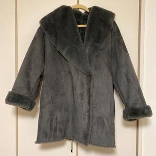 GU - gu フェイクムートン ムートンタッチコート コート グレー Mサイズ