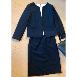 ナチュラルビューティーベーシック(NATURAL BEAUTY BASIC)のナチュラルビューティーベーシック     L    濃紺 スカートスーツ上下(スーツ)