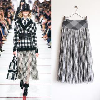 クリスチャンディオール(Christian Dior)の極美品 Christian Dior ディオール 19AW チュール スカート(ひざ丈スカート)