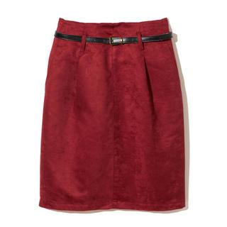GRL - GRL ベルト付きスエードタイトスカート