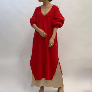 ENFOLD - ナゴンスタンス FINE WOOL V BACK DRAPE DRESS