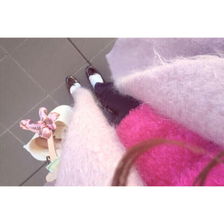 エディットフォールル(EDIT.FOR LULU)のラベンダー モヘヤシャギーコート♡最終値下(ロングコート)