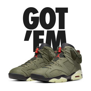 NIKE - NIKE AIR JORDAN6 TRAVIS SCOTT 29cm US11