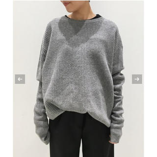 L'Appartement DEUXIEME CLASSE - L'Appartement THERMAL KNIT サーマルニット グレー