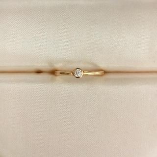 AHKAH - AHKAH アーカー ダイヤモンド ジェーン リング K18YG 0.05ct