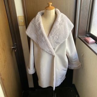 ジーユー(GU)のguモコモコファーコート大きめサイズ(毛皮/ファーコート)