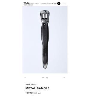トーガ(TOGA)のTOGA VIRILIS METAL BANGLE(バングル/リストバンド)