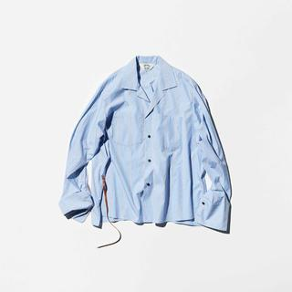 SUNSEA - BLUE BEIGE GIGOLO SHIRT【size 2】