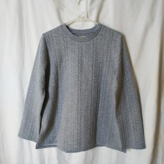SM2 - 中古★サマンサモスモス「縄編み柄裏起毛トレーナープルオーバー」Mサイズ