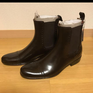 NAVYプレミアムサイドゴアレインブーツ(ブラウン)新品未使用品(レインブーツ/長靴)