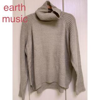 earth music & ecology - ★earth music リブタートルニット ベージュ