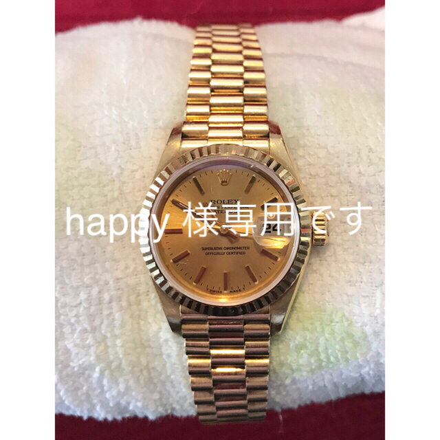 5850ch / ROLEX - ロレックスレディース金無垢腕時計新春特別価格4日には元の60万にの通販 by もうむ's shop