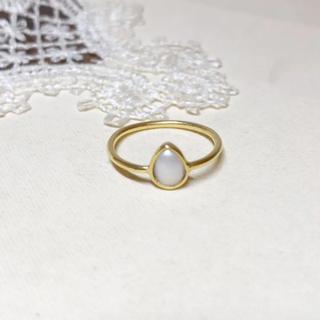 トゥモローランド(TOMORROWLAND)の1043 ティアドロップ型淡水パールのリング(リング(指輪))