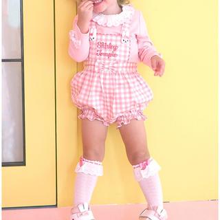 シャーリーテンプル(Shirley Temple)のシャーリーテンプル☆ うさぎモチーフ付きロンパース80 新品です(ロンパース)