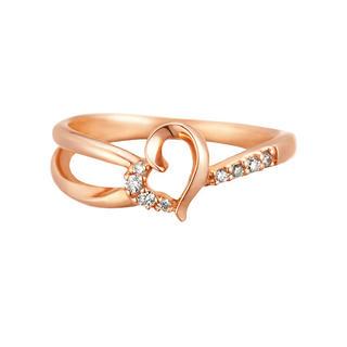 カナルヨンドシー(canal4℃)のcanal 4℃ ダイヤモンド K10ピンクゴールド リング 9号(リング(指輪))