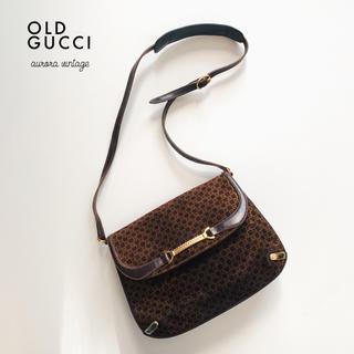 Gucci - 極希少デザイン‼︎秋冬トレンド◇オールドグッチスエードホースビットショルダー◇