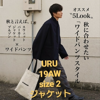 SUNSEA - URU 19aw wool over jacket ネイビー サイズ2