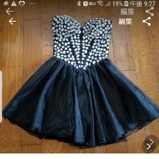 dazzy store - ビジューフレアミニドレス