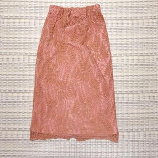 ティティベイト(titivate)のリーフレースロングスカート(ロングスカート)
