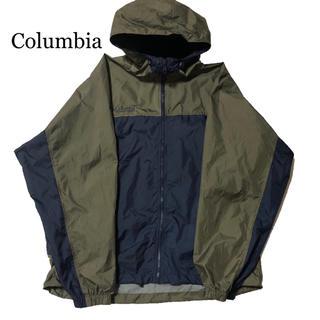 コロンビア(Columbia)のColumbia コロンビア ナイロン 薄手 切り替え ジャケット Lサイズ(ナイロンジャケット)