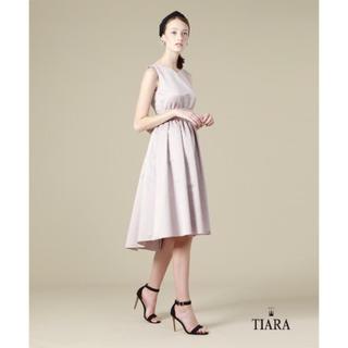ティアラ(tiara)の美品 TIARA 上品◎アシンメトリードレスパーティードレスフォーマルワンピース(ミディアムドレス)