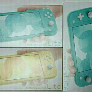 Nintendo Switch Lite 3台(ターコイズ2台とイエロー1台)