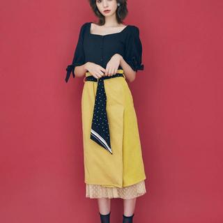 ダズリン(dazzlin)のdazzlin スカーフ付コーデュロイスカート(ロングスカート)