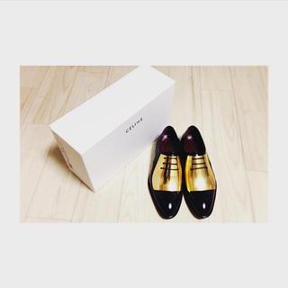ジルサンダー(Jil Sander)のセリーヌ ゴールドプレートシューズ 革靴(ローファー/革靴)