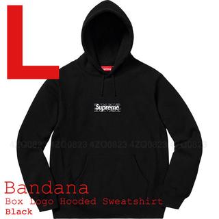 シュプリーム(Supreme)の本日限定価格 Supreme Bandana Box Logo 黒 L(パーカー)