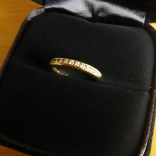 ティファニー(Tiffany & Co.)のティファニー イエローゴールドダイヤモンドハーフサークルリング(リング(指輪))