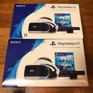 """プレイステーションヴィーアール(PlayStation VR)のPS VR """"PlayStationVR WORLDS"""" 同封 2個セット(家庭用ゲーム機本体)"""