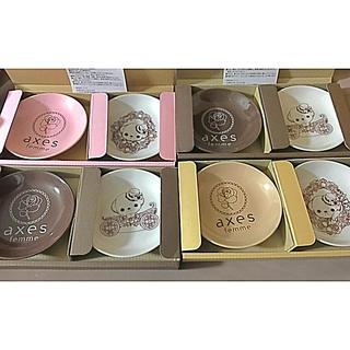 アクシーズファム(axes femme)のアクシーズ ノベルティ 小皿 お皿 サンクスフェス 新品未使用 全種類セット(ノベルティグッズ)