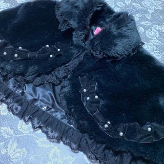 アンジェリックプリティー(Angelic Pretty)の【売り切り】Pretty♡ファーケープ♡黒(ポンチョ)