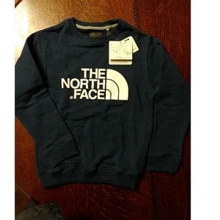 THE NORTH FACE - 新品 130 キッズ ノースフェイス スウェットロゴクルー コズミックブルー