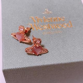 Vivienne Westwood - 【新品未使用】ハートストーン ピンク ピアス ピンクゴールド