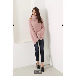 rienda - rienda♡Off Turtle Official Knit TOP♡PNK
