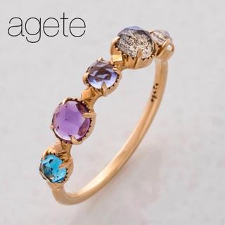 アガット(agete)の■現行品■【agete】K10マルチカラーストーンリング/天然石(リング(指輪))